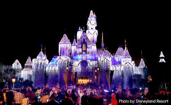 Disneyland is transformed into an avenue aglow