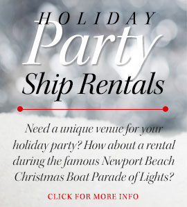 Need a venue for your next holiday party? How about renting a boat from Newport Landing! Call (949) 675-0551 today!
